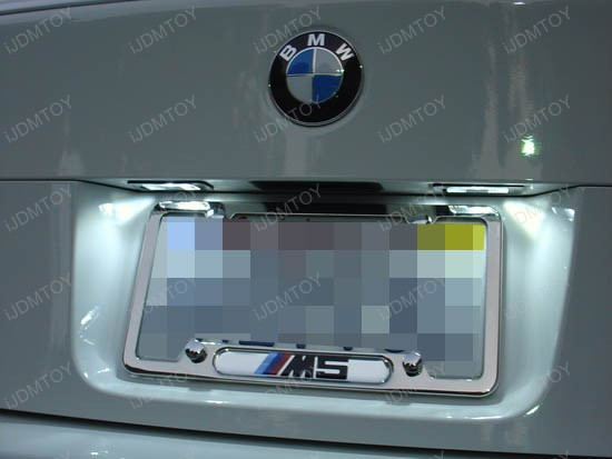 BMW - E60 - M5 - led - license - plate - lights - 1